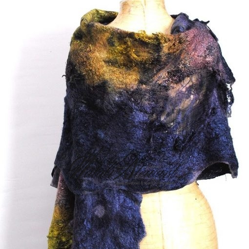Felted Wearable Wrap / Shawl