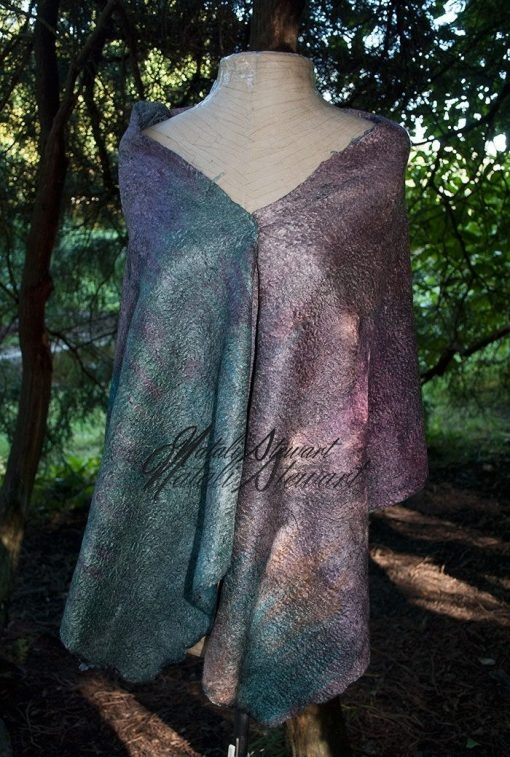 Reversible Felted Shawl Wrap Scarf by Natali Stewart