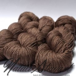 "100gr / 365m Superwash Merino / Silk / Yak Yarn - Solid Colour ""Walnut"""