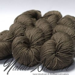 "100gr / 365m Superwash Merino / Silk / Yak Yarn - Solid Colour ""Olive"""
