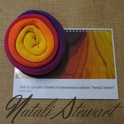 """Hawaii Sunset"" How to Dye Yarn in Harmonious Colors"