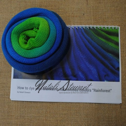 """Rainforest"" How to Dye Yarn in Harmonious Colors"