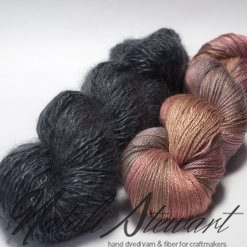 Set of 2 - Variegated B.Camel / Silk and Complimentary Solid Color Yarn