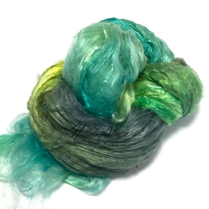 29gr Mulberry Fibre Silk Top Brick Hand Dyed in Variegated Colors MSB06
