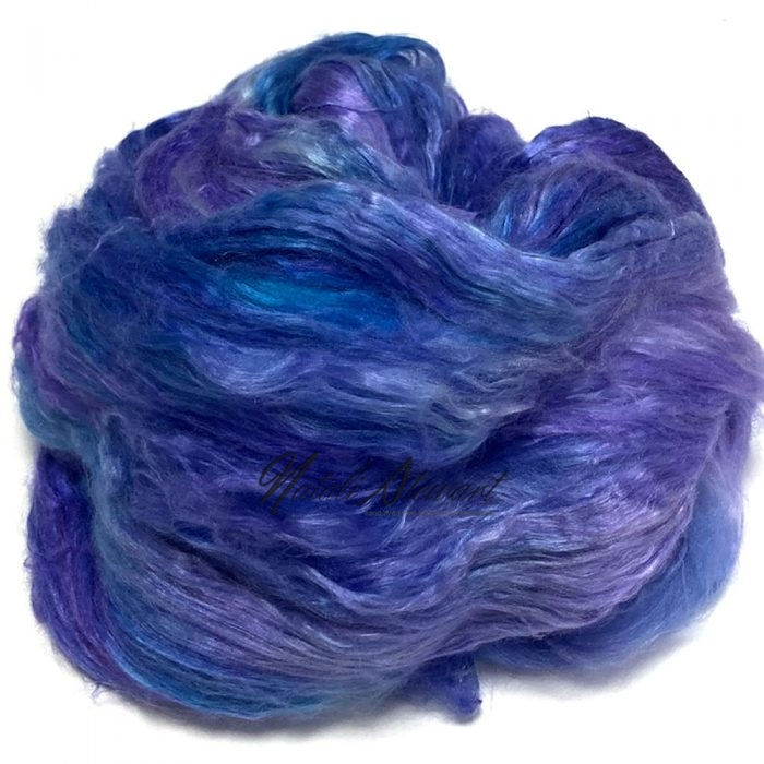 30gr Mulberry Fibre Silk Top Brick Hand Dyed in Variegated Colors MSB05-A