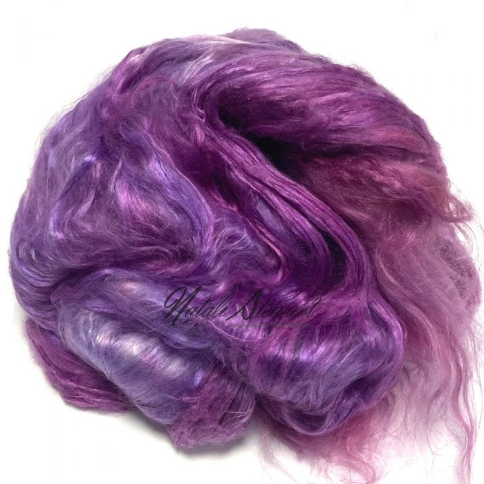 30gr Mulberry Fibre Silk Top Brick Hand Dyed in Variegated Colors MSB20