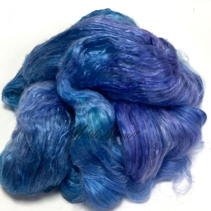 31gr Mulberry Fibre Silk Top Brick Hand Dyed in Variegated Colors MSB05