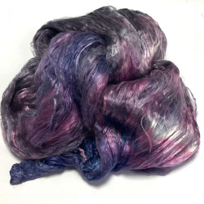 32gr Mulberry Fibre Silk Top Brick Hand Dyed in Variegated Colors MSB32