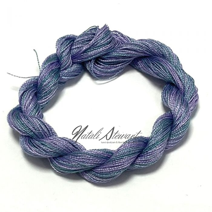 SPJ97 Very Fine Embroidery Silk Thread Single 50 Meters Winded on Card Variegated Colors
