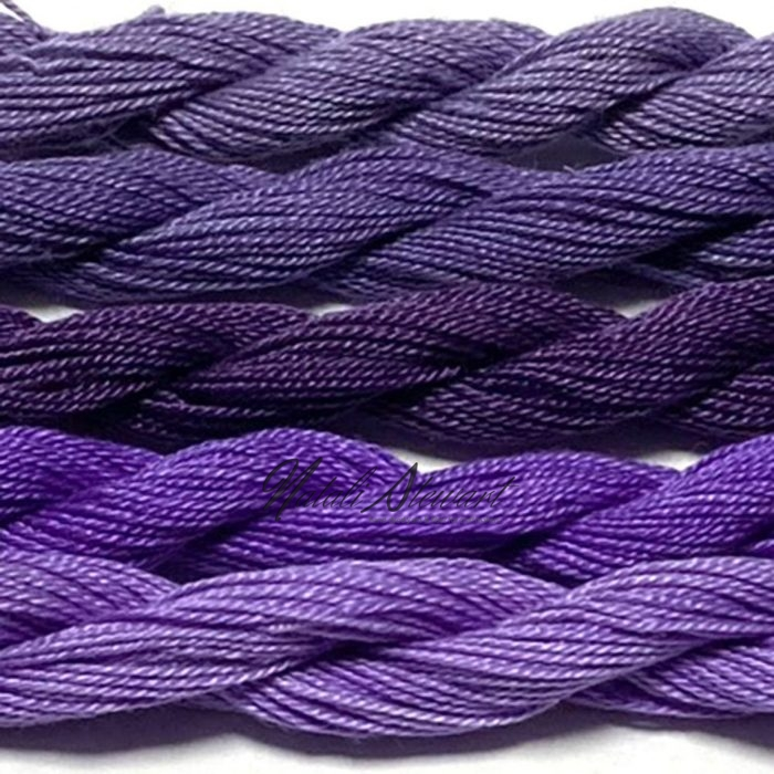 Fine Twist Mulberry Silk Embroidery Threads Pack 5 Mini Skeins 30 Metres Each Hand Dyed in Solid Colors FES33