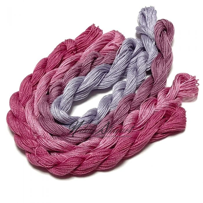 Fine Twist Mulberry Silk Embroidery Threads Pack 4 Mini Skeins 30 Metres Each Hand Dyed in Solid Colors FES12
