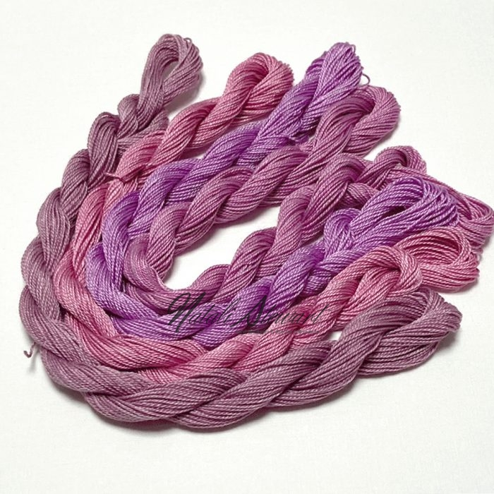 Fine Twist Mulberry Silk Embroidery Threads Pack 4 Mini Skeins 30 Metres Each Hand Dyed in Solid Colors FES13