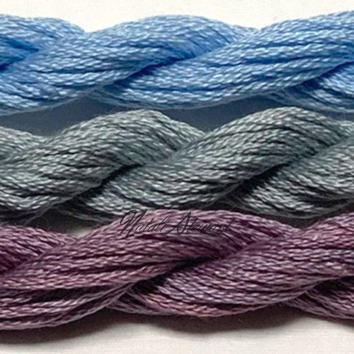 Hand dyed cotton embroidery floss mouline cotton stranded cotton floss embroidery thread FSC17 3 Skeins 10 Meters