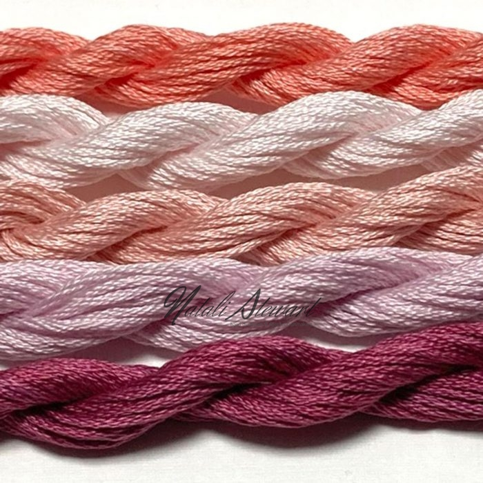Hand dyed cotton embroidery floss mouline cotton stranded cotton floss embroidery thread MSC05 5 Skeins 10 Meters