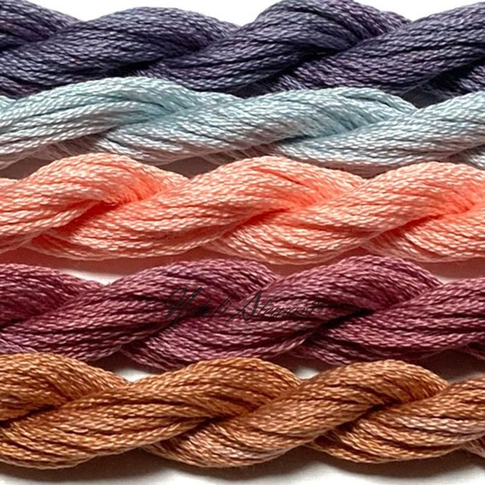 Hand dyed cotton embroidery floss mouline cotton stranded cotton floss embroidery thread MSC10 5 Skeins 10 Meters