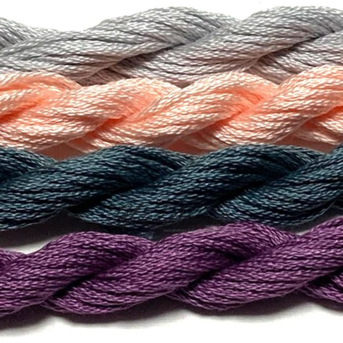 Hand dyed cotton embroidery floss mouline cotton stranded cotton floss embroidery thread MSC16 4 Skeins 10 Meters