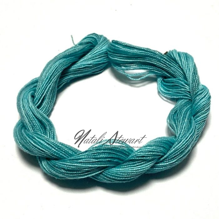 Hand dyed Embroidery Mercerised Cotton threads 40 meters single skein MC1