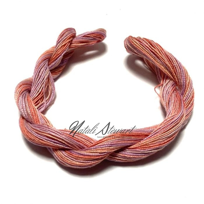 Hand dyed Embroidery Mercerised Cotton threads 40 meters single skein MC10
