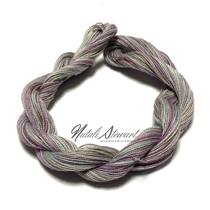 Hand dyed Embroidery Mercerised Cotton threads 40 meters single skein MC15