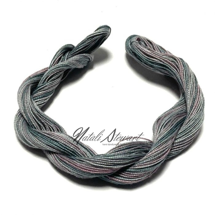Hand dyed Embroidery Mercerised Cotton threads 40 meters single skein MC17