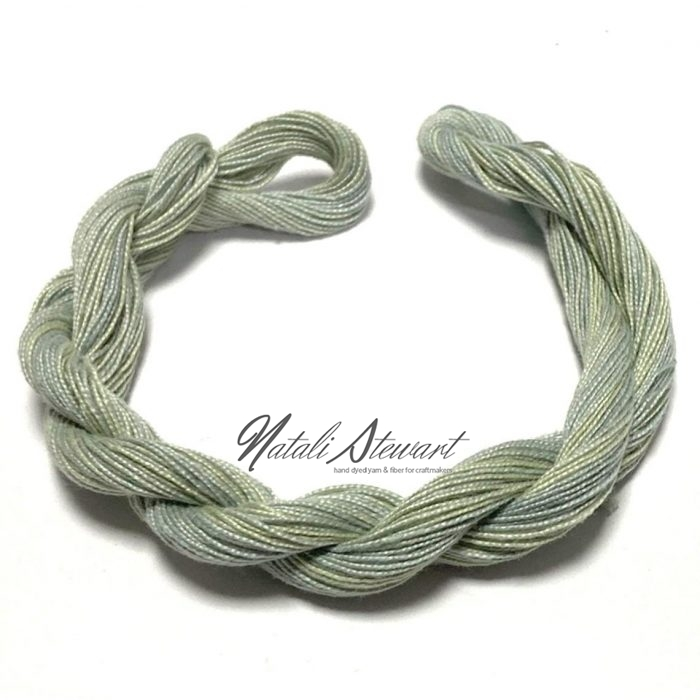 Hand dyed Embroidery Mercerised Cotton threads 40 meters single skein MC18