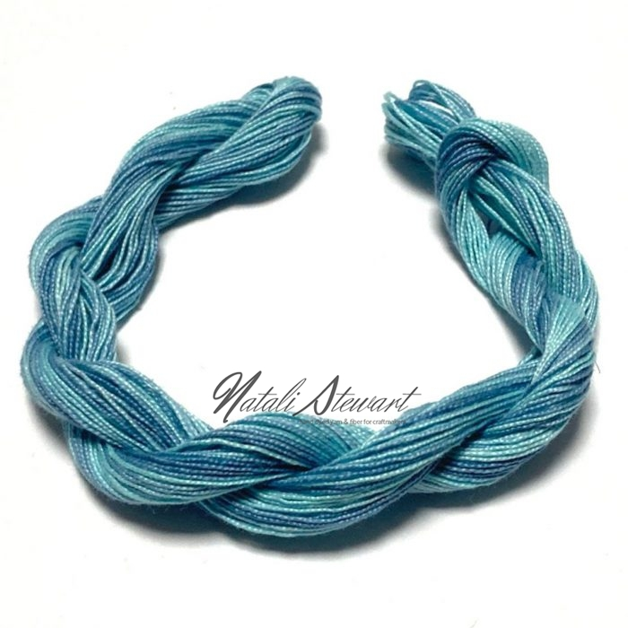 Hand dyed Embroidery Mercerised Cotton threads 40 meters single skein MC3