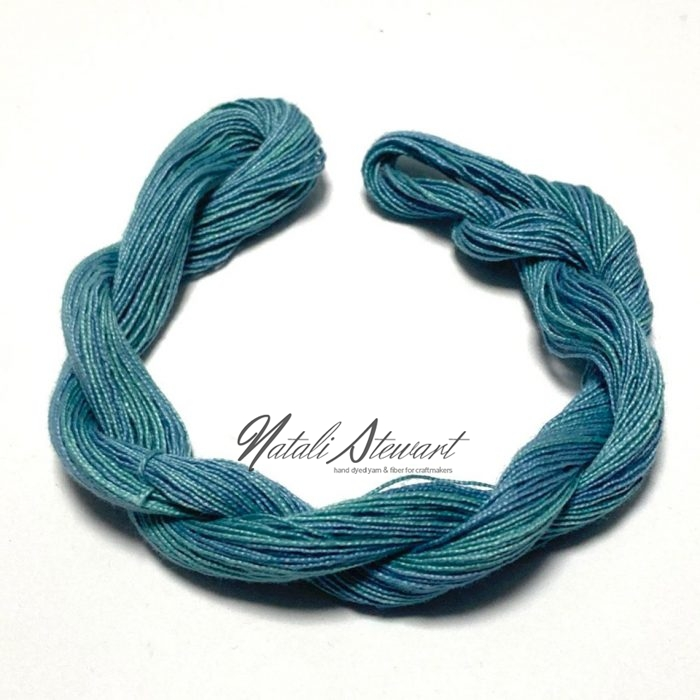 Hand dyed Embroidery Mercerised Cotton threads 40 meters single skein MC5