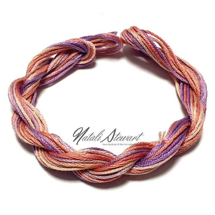 Hand dyed cotton embroidery floss moulinè cotton stranded cotton floss embroidery thread 10 meters single skein SC10