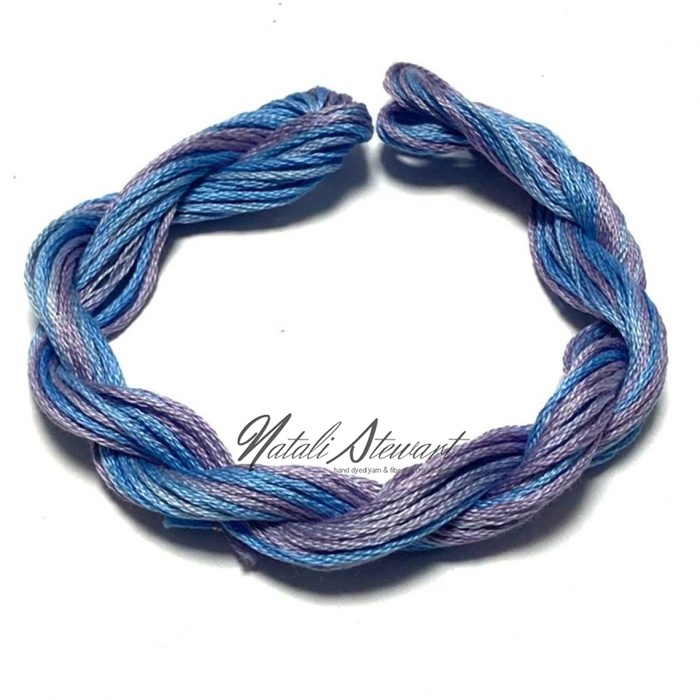 Hand dyed cotton embroidery floss moulinè cotton stranded cotton floss embroidery thread 10 meters single skein SC11