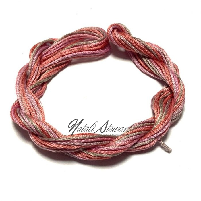 Hand dyed cotton embroidery floss moulinè cotton stranded cotton floss embroidery thread 10 meters single skein SC12