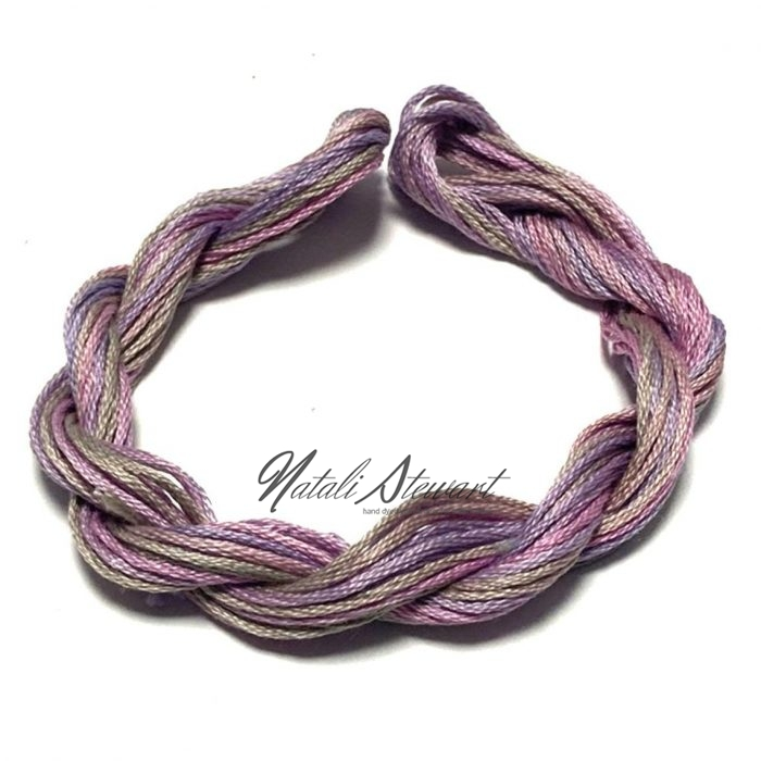 Hand dyed cotton embroidery floss moulinè cotton stranded cotton floss embroidery thread 10 meters single skein SC13