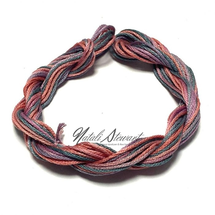 Hand dyed cotton embroidery floss moulinè cotton stranded cotton floss embroidery thread 10 meters single skein SC14