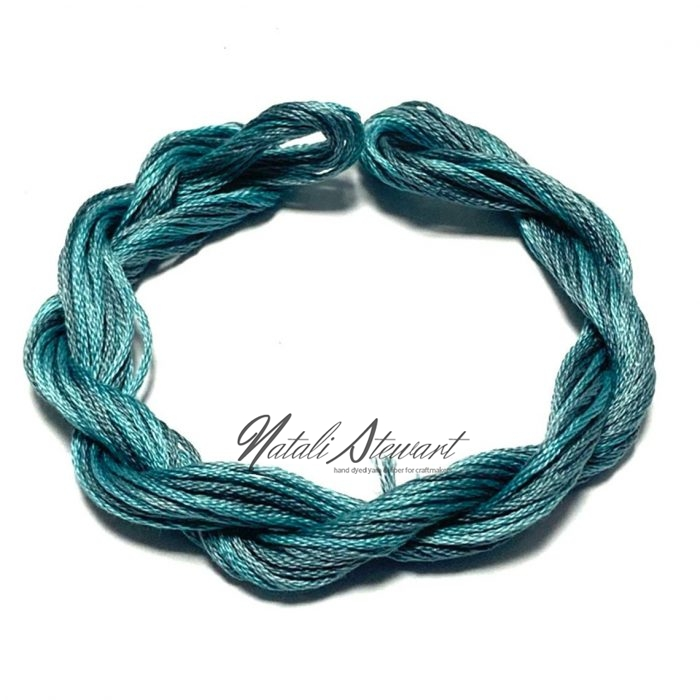 Hand dyed cotton embroidery floss moulinè cotton stranded cotton floss embroidery thread 10 meters single skein SC2