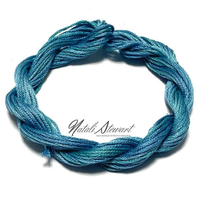 Hand dyed cotton embroidery floss moulinè cotton stranded cotton floss embroidery thread 10 meters single skein SC3