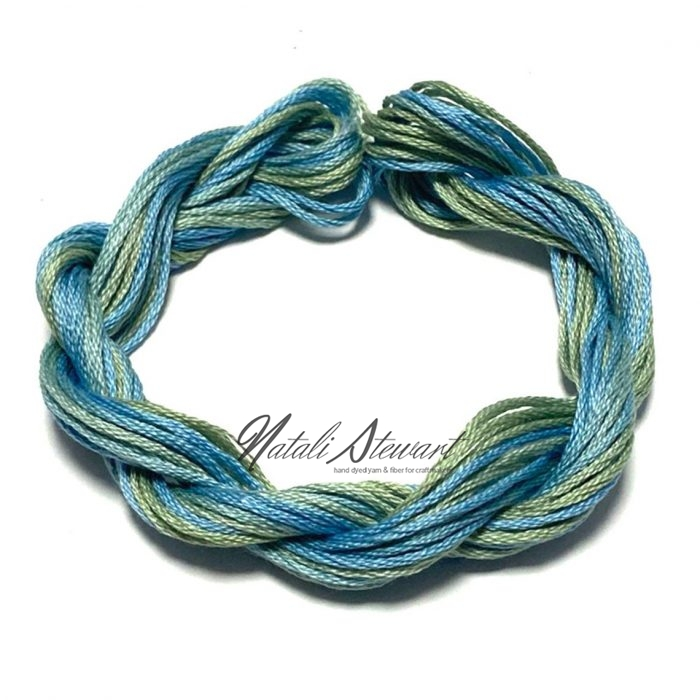 Hand dyed cotton embroidery floss moulinè cotton stranded cotton floss embroidery thread 10 meters single skein SC6