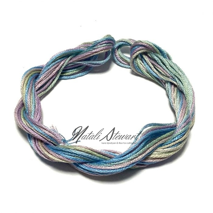 Hand dyed cotton embroidery floss moulinè cotton stranded cotton floss embroidery thread 10 meters single skein SC9